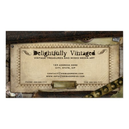 Victorian Steampunk Antique Professional Business Cards