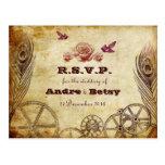 Victorian Steampunk RSVP Postcard