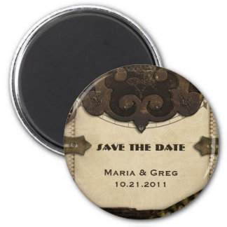 Victorian Steampunk Save The Date Magnet