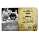 Victorian Steampunk Save the Date Photo Rectangular Magnet