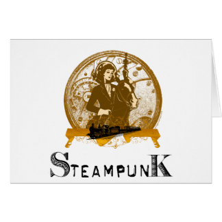 Victorian steampunk space gal cards