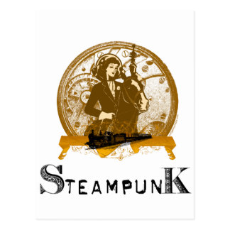 Victorian steampunk space gal post cards