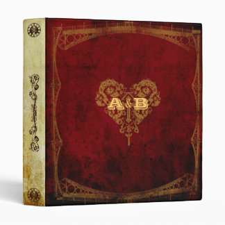 Victorian Steampunk Wedding 3 Ring Binder