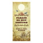 Victorian Steampunk Wedding Bedroom Door Hanger Custom Rack Cards