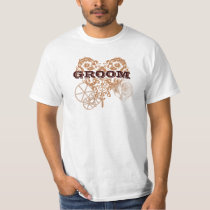 Victorian Steampunk Wedding Groom T-shirt
