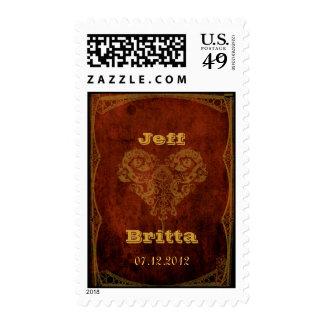 Victorian Steampunk Wedding Postage Stamp