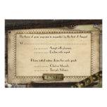 Victorian Steampunk Wedding Reception Cards Invitation