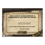 Victorian Steampunk Wedding Reception Cards Personalized Invites