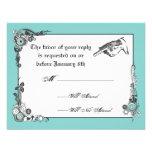 Victorian Steampunk Wedding RSVP Card