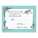 Victorian Steampunk Wedding RSVP Card Invitations