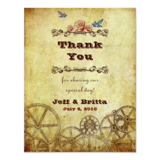 Victorian Steampunk Wedding Thank You Personalized Invitations