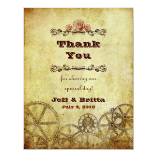Victorian Steampunk Wedding Thank You v.2 Card