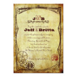 Victorian Steampunk Wedding v.2 Personalized Announcements