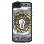 Victorian steel and gold key hole iPhone 5 covers