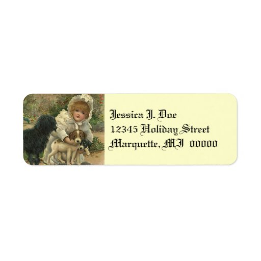 send a letter stray pet rescue return address label zazzle 24790