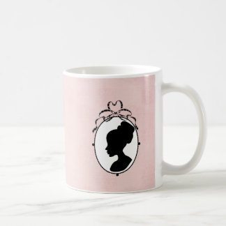 Victorian Style 60s Cameo Coffee Mug