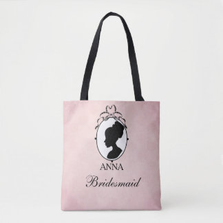 Victorian Style 60s Cameo Tote Bag