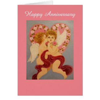 Victorian style angels, Anniversary Card
