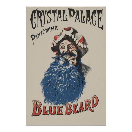 Victorian style Bluebeard ad Poster