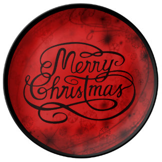 Victorian Style Merry Christmas Decorative Plate