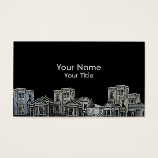 Victorian style old house real estate custom cards
