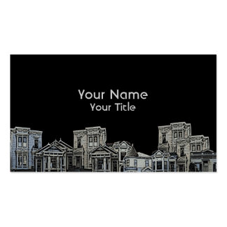 Victorian style old house real estate custom cards business card