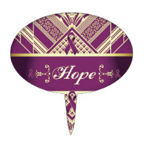 Victorian Style Pan Cancer Awareness Products. Cake Topper