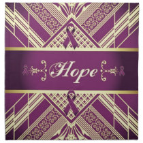 Victorian Style Pan Cancer Awareness Products. Cloth Napkin