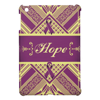 Victorian Style Pan Cancer Awareness Products. iPad Mini Cover