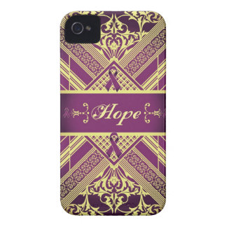 Victorian Style Pan Cancer Awareness Products. iPhone 4 Case-Mate Case
