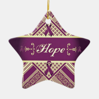 Victorian Style Pan Cancer Awareness Products. Christmas Ornament