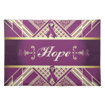 Victorian Style Pan Cancer Awareness Products. Placemat