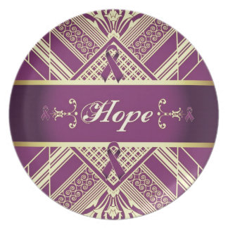 Victorian Style Pan Cancer Awareness Products. Dinner Plates