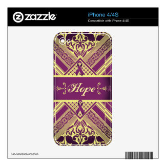 Victorian Style Pan Cancer Awareness Products. Skin For iPhone 4
