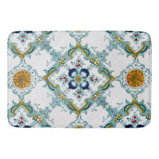 Victorian Style Tile Pattern On Bathroom Mat