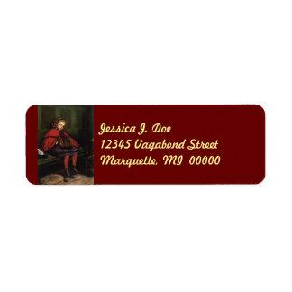 Victorian Style Vagabond Girl Return address Label