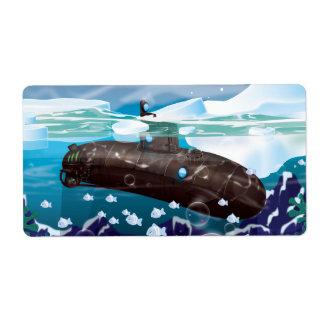 Victorian Submarine Arctic Adventure Label