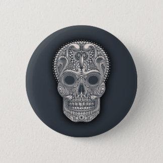 Victorian Sugar Skull Pinback Button