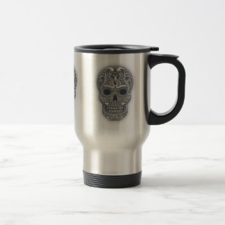 Victorian Sugar Skull Travel Mug