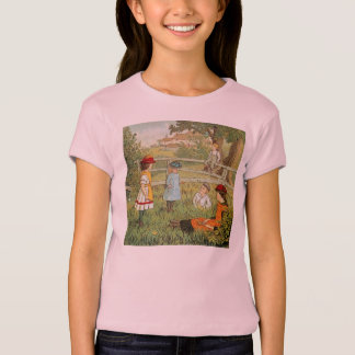 Victorian summer, children playing in the grass T-Shirt