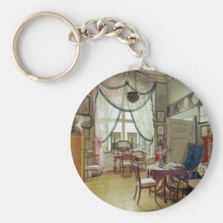 Victorian Sunroom Basic Round Button Keychain
