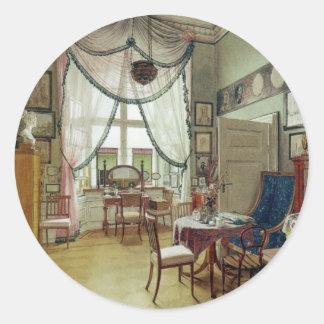 Victorian Sunroom Classic Round Sticker