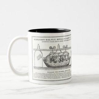 Victorian Suspension Railway Mug 1830