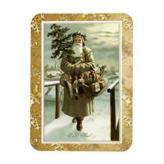 Victorian Swedish Santa Claus Post Card Art Magnet