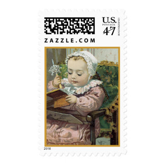 Victorian Sweet Precious Baby Postage Stamps