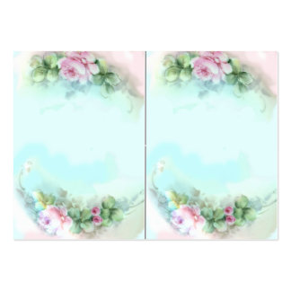 Victorian Sweetheart Roses Large Business Card