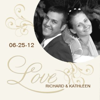 Victorian Swirls - Save the Date Photo Magnet magnet