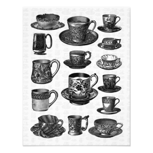 Victorian tea party custom announcement zazzle for Victorian tea party supplies