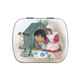 Victorian Tea Party in Doghouse Jelly Belly Candy Tin