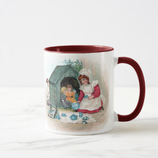 Victorian Tea Party in Doghouse Mug